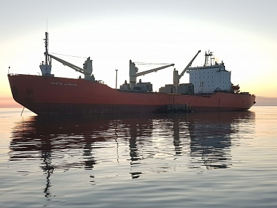 Ships chartered by Oboronlogistics met on the Northern sea route